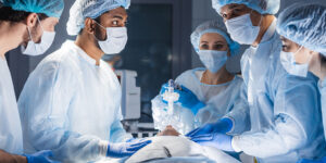 Doctors in the OR during surgery