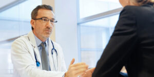 Doctor interviewing a woman