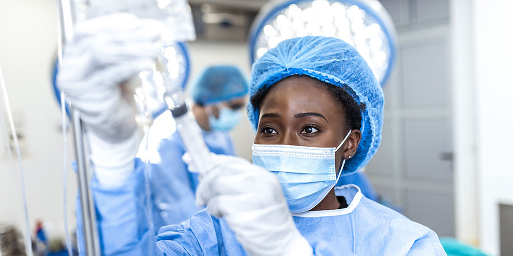Anesthesiologist in OR