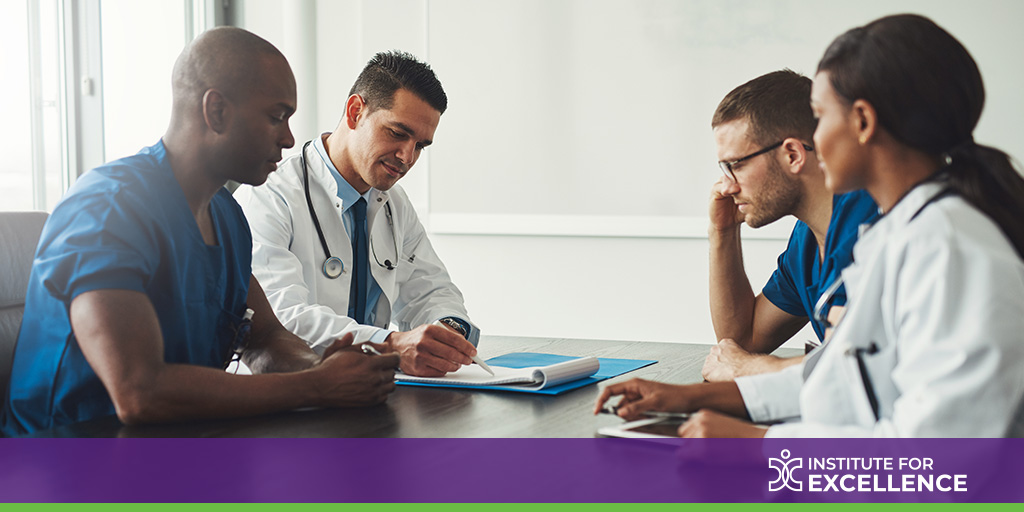 A group of doctors meeting